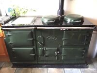 AGA 4 oven Racing Green, converted from solid fuel to gas