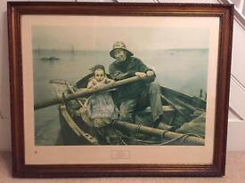 Large Gilded Framed Print - Nautical Scene