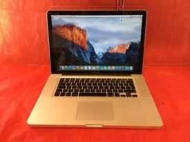 """MACBOOK PRO 15"""" CORE 2 DUO 4GB RAM 500GB HDD-2009-FIXED PRICE-collection from shop E17 9AP-L615"""