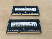 Sk Hynix PC3 12800S laptop ram ddr3 8gb kit