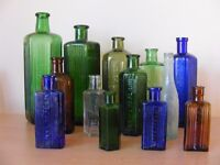 COLLECTION OF OLD NOT TO BE TAKEN POISON BOTTLES (13)