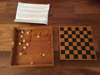 M&S Wooden Draughts Set Complete