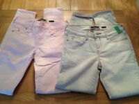 2 pairs of River Island Jeans, size 8, as new, £5 each