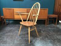 Windsor Quaker Armchair by Ercol. Retro Vintage Mid Century