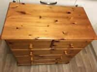 Solid pine chest of drawers ideal shabby chic + free local delivery @ £125