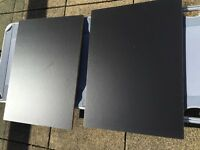 IKEA Elga black shelves x 2