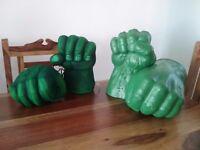 Marvel hulk bashing hands.