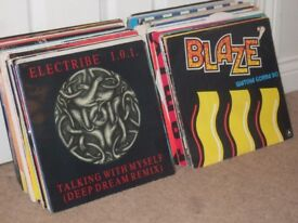 "130 x 12"" Old Skool Dance Vinyl Records Collection. 80s - 90s"