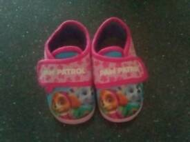 Paw patrol toddlers slippers size 5
