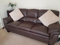 Three seaterleather sofa , excellent condition as hardly used. Buyer will need to collect.