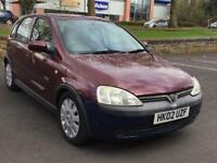 2002 VAUXHALL CORSA 1.7 * DIESEL * 5 DOOR * MOT * CHEAP INSURANCE