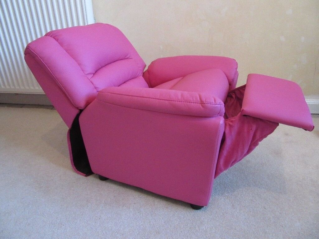 Girl's Pink Reclining Chair