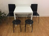 IKEA- Set of dining table, chairs, stools