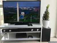 "JVC 50"" HD LED tv + JVC Soundbar + Subwoofer"