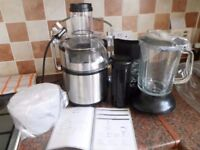 stainless steel juicer/blender new never been used
