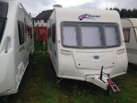 Bailey pageant bordeaux 4berth fixed bed 2009 full awning and porch awning