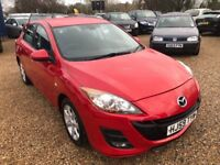 2009 MAZDA 3 MAZDA3 TS2 1.6 D HATCHBACK RED £30 A YEAR ROAD TAX LOW MILEAGE