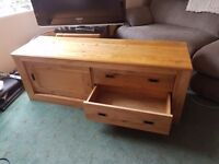 Solid wood tv console from next . Excellent condition