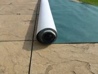 partial roll of roofing felt