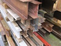 Reinforced Steel Beams For Sale, we charge £6 per foot & you pay for the length.