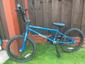 """Boys 20"""" bike bmx blue can deliver for a small charge"""