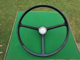 Ford Escort Mk1 or Mk2 genuine original OEM steering wheel.