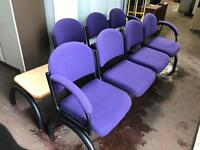 Purple Seated Bench - Solid Frame