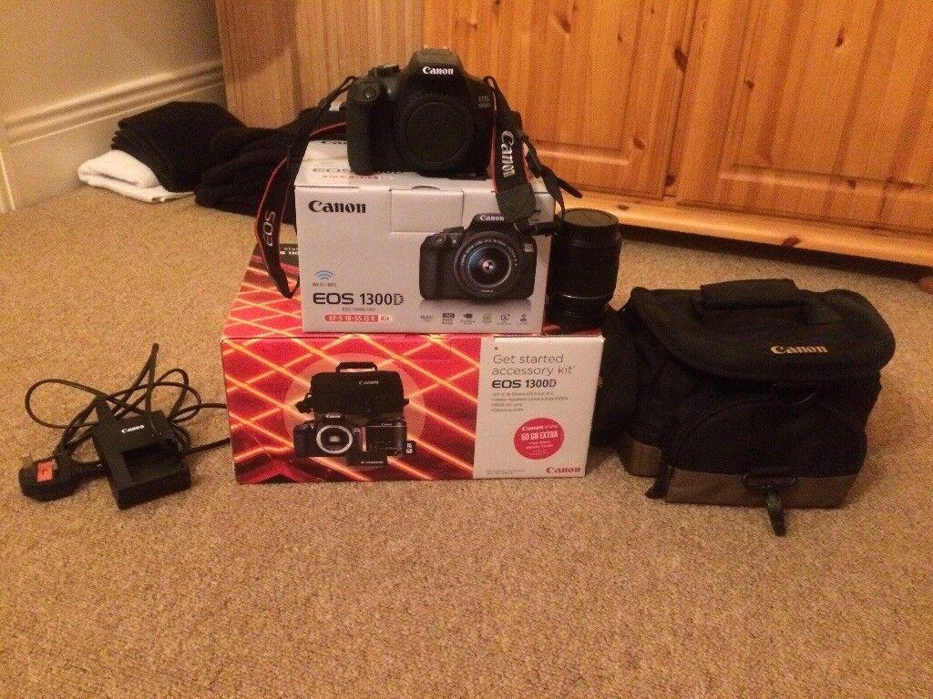 Canon Eos 1300d Bundle 180mp Dslr Camera Black 18 55mm Lens Digital With Is Ii