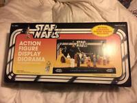 Vintage Star Wars Action figure display diorama. Unused.