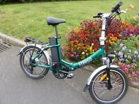FREEGO ELECTRIC FOLDING BIKE. 2014 model lightly used and in imaculate condition.