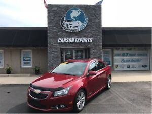 2013 Chevrolet Cruze LTZ Turbo LOOK LEATHER AND LOW KMS!