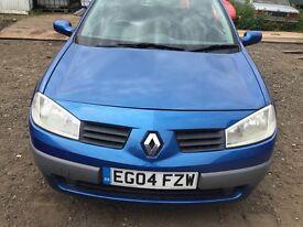 Renault Megane blue breaking for parts / spares bonnet bumper lights Ect