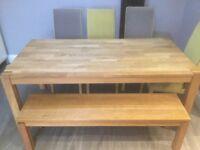 Kitchen table oak large