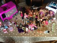Bratz and Moxie dolls and accessories