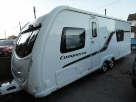 Swift Conqueror 630 twin axle 4 birth Immaculate Caravan 2014