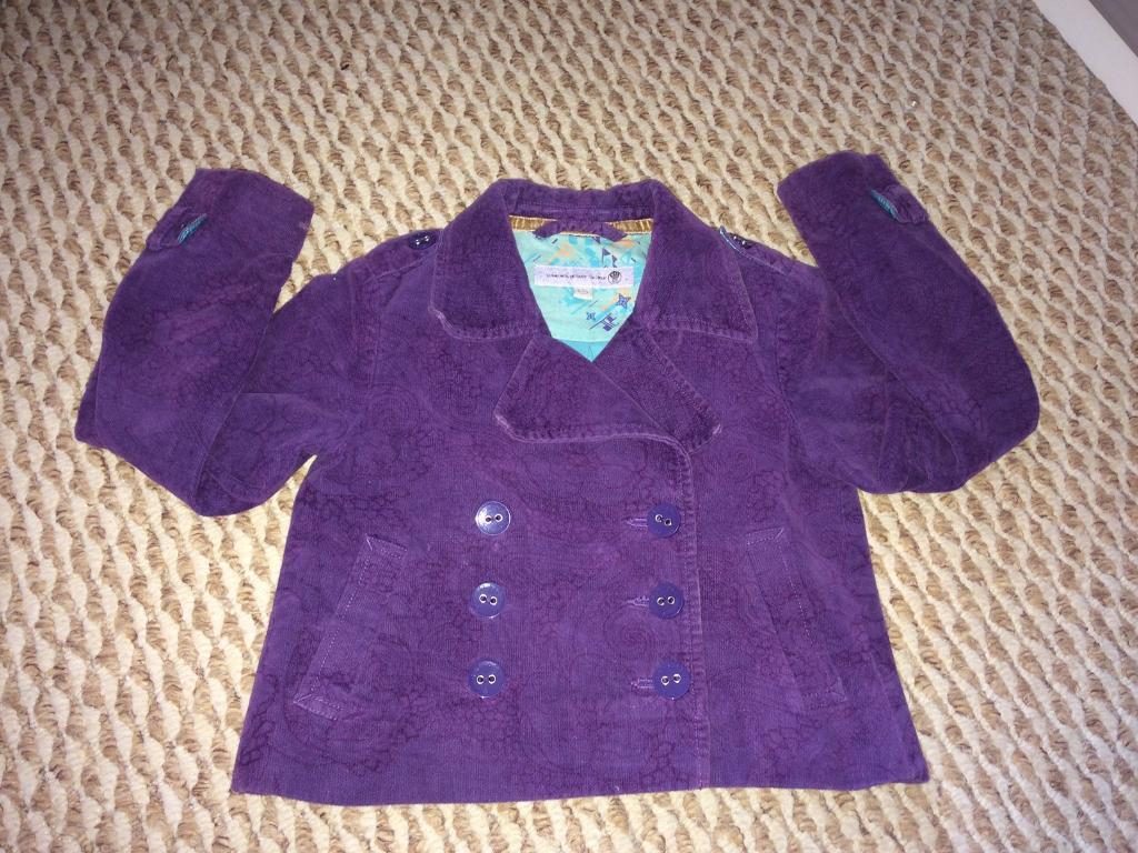 Girls 4-5 purple fat face jacket / coat