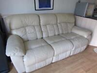 3 seater & 2 seater leather recliner sofas