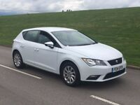 2014 Seat Leon 1.6 TDI CR SE 5dr (start/stop) white diesel***one owner**CHOICE OF TWO not golf a3