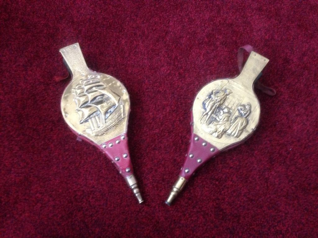 2 brass bellows