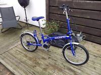 """Unisex Adults Blue Sunlova 20"""" Wheels Folding Bike 6 Shimano Speeds"""
