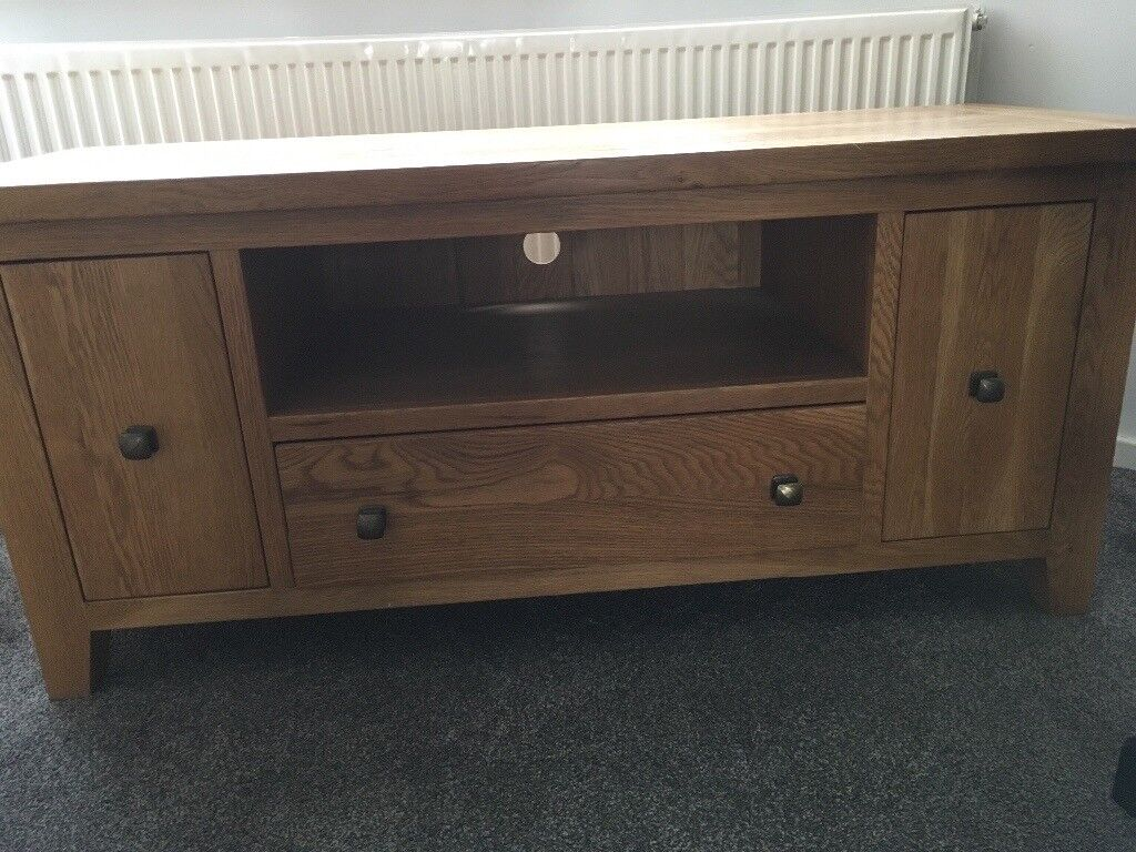 Solid oak especially made for 52 inch TV