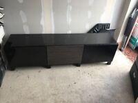 Ikea 'BESTA' TV Bench Brown/Black Unit