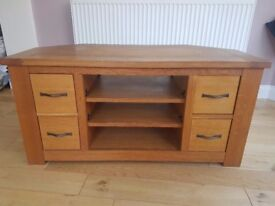 Fantastic condition oak corner tv unit