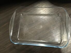 Non stick frying pan 32cm 6£, Flat open Glass Bowls 6£