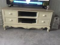Baytree interiors tv stand with match side table