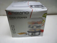 New AMBIANO Food steamer 3 Tier 800w 9L New & Boxed