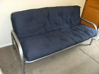 Metal framed double sofabed / futon