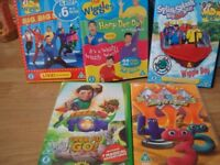 5 DVD'S IN GOOD CONDITION WIGGLES X 3 2 OTHERS