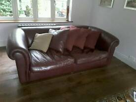 Large leather sofa