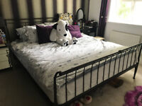 Good condition Iron super king bed for sale